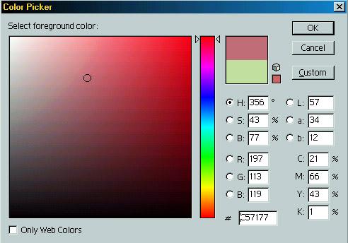 Номер цвета в фотошопе